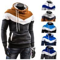 2014 new men's color Hooded Fleece Hoodie sleeve head self thickening A8691 M-XXXL