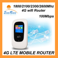 100Mbps 4G lte mifi router LTE-TDD/FDD1800/2100/2300/2600Mhz   2300mAh 4G router mobile wifi 4G LTE router