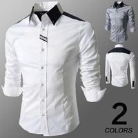 The spring 2014 of the new men's fashionable Ribbon Shirt dress shirts 8098