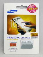 Free Shiooing Hot SAMSUNG EVO 16GB 32GB 64GB Class10-48MB/S TF(MicroSD) UHS-1 Memory Card with adapter