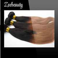 Free Shipping 3 Bundles 10-24 Inches Top Quality straight Two tone Brazilian Virgin Ombre Hair Extensions