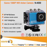 Action Camera Full HD DVR Sport DV Original N4000 1080P Helmet Waterproof Camera 1.5inch G Senor Motor Mini DV 170 Wide Angle
