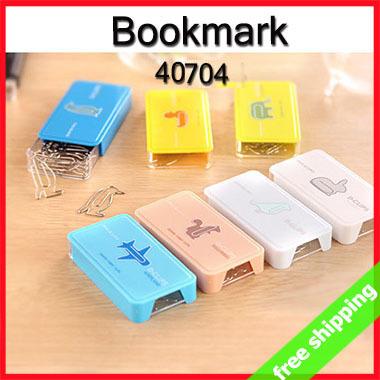FREE SHIPPING Bookmark Stationery CARTOON Style Clip Art Metal Office Book Mark Gift Student Prize say hi 216pcs/lot 40704(China (Mainland))