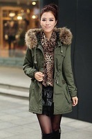 New Ladies Women's High Quality Winter Warm Casual Parka Faux Fur Jacket Hooded Coat Top Outerwear!Gross:1.3KG