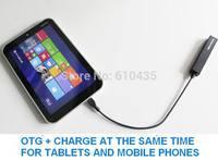 USB OTG  hub charge with 4 ports for tablet thinkpad 8 X98 VivoTab note8 M80ta WT-8 Miix2 ME400C Venue 8 Pro V8P W4-820 V975I