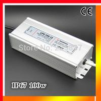 Free shipping 100w 220v AC to 12v 15v 24v 48v DC waterproof IP67 switching LED driver power supply led strip light transformer