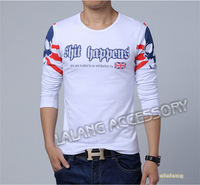 Men European Style Letter print  long sleeve t shirt best t-shirt Large size  XXXL Top Quality mens shirt  CX851827
