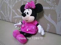 "12"" stuffed minnie 30cm plush minnie mouse valentine gift birthday present soft toys 1 piece free shipping"