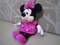 "12"" stuffed minnie 30cm plush minnie mouse valentine gift birthday present soft toys 1 piece free shipping"