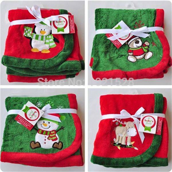 Limited soft Christmas fleece blanket penguin/bear kids blanket throw ...
