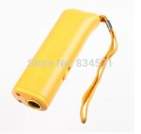 1pcs/lot Ultrasonic Pet Dog Repeller Training Device Trainer TRAINING + REPELLER + LED light 3 in 1 Free Shipping black