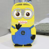 Fashion 3D Cartoon Cute Minions Minnie Winnie Despicable Me 2 Silicon Soft back cover Case for Samsung Galaxy Trend Duos S7562