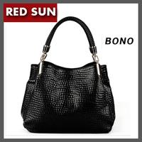 Bono 2014 fashion real cow split leather women's cowhide leather handbag portable women's one shoulder messenger bag