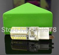 10pcs Silicone G9 220V 6W 3014 SMD 64 LED Crystal Lamp Corn Bulb Droplight Chandelier COB Spotlight Cool/Warm White 360 degree