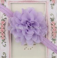 Baby handband chiffon flower crown headbands newborn Photography Prop accessories for hair