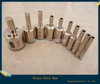Hot ! 10pcs lot   hole saw glass drill bit diamond set diamond  core drill bit  marble tile or granite Glass drill  6-30 mm