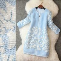 2014 New Brand  Desigual Mesh Decal Printing Women Dress Autumn Winter Queen Temperament Zipper Hollow Dress Celebrity Dresses