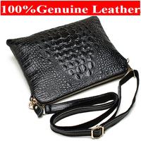 New Arrival Bag  Fashion Genuine Leather Handbags Women Aligator Clutch Bag Messenger Shoulder Bags  ipad Mini Bags A216