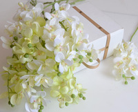 Free shipping(12 pcs/lot) Artificial Simulation silk orchid flower artificial butterfly flower wedding decoration flower