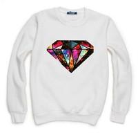 Galaxy Diamond Sweatshirt For Men Women Hoodies Lady Casual Hoody Pullover Moleton Feminino XL ZY053-05