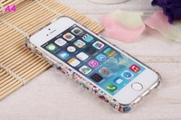 10 Styles Optional New Arrive Aluminum Alloy Joints Cartoon Transparent Crystal Bumper Frame Case For iphone 5 5s