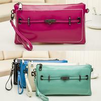 Fashion Brand Design Hasp Criss-Cross Genuine Leather Handbags Women Evening Clutch Bag Messenger Shoulder Bags Purse A269