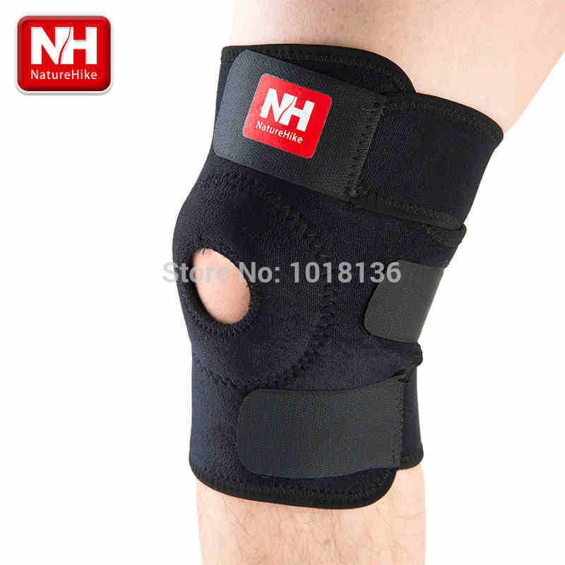 Top Selling fashion football basketball volleyball black durable knee shin protector guard pad pads kneepad -NatureHike(China (Mainland))