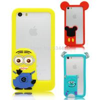 Slicone Despicable me Monster University Bumper for Apple iPhone 5 5S Phone case Capa Celular K20211