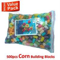 Baby lovest 500pcs Bricks Value Pack Corn Building Bricks, Patent Early childhood educational enlightenment Toys, Gift for Kids