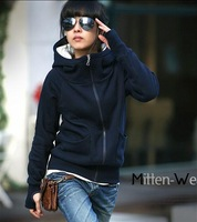 New 2014 Womens Long Sleeve Hoodie Cardigans Coat Women's hoodie Sports Wear Track Hoodie Sweatshirt  With Hat  #8015