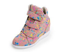 Autumn&Spring Shoes For  Women's High Canvas Shoes  Height Increasing Sports Shoes Casual Incresed Internal