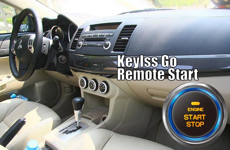 Lancer Galant Grandis Outlander Smart Keyless Entry Go Push Button Remote Start Car Alarm for Mitsubishi(China (Mainland))