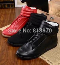 Margiela Promotion!!  Kanye West Fashion Sneakers Genuine Leather Hi-Stree Maison Martin Hip Hop Casual Men Sports Shoes 38-46(China (Mainland))