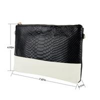 2015 Design Women Leather Alligator Print Chain Shoulder Bag Crocodile Tassel Clutches Evening Bag Handbag Black Red Brown Green