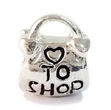 Min order $10 Free Shipping Jewelry 925 Silver Bead Charm European Heart shop Handbag Bead Fit Charm Bracelets & Bracelet H512