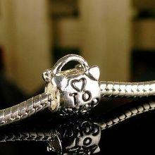 NEW Free Shipping Jewelry Silver Bead Charm European Heart Shop Handbag Bead Fit Pandora Charm Bracelets