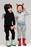 Pre-sale  Children's clothes set ! spring&autumn Girls boys sports pants +Little Devil 3d wings hooded T-shirt suits  ELZ-T0336