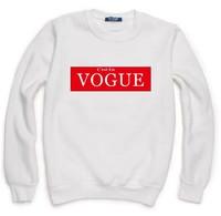 C'est En VOGUE Print Sweatshirt For Women Men Lady Casual Hoody Pullover Moleton Feminino XL ZY053-23