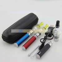 Ego e cigarette e cig dry herb herbal wax vaporizer starter kit with ego t battery and wax glass globle atomizer vaporizer