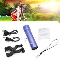 Portable Sport  Mini Bicycle Bluetooth Speaker Water FM Radio SD/TF Sound Box MP3 Player Speaker & Torch Flashlight With Bracket