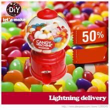 2pcs/lot Mini Twist sugar machine candy dispenser kids' faviorite gift,sweet mini bubble gum machine Lovely gift free shipping(China (Mainland))
