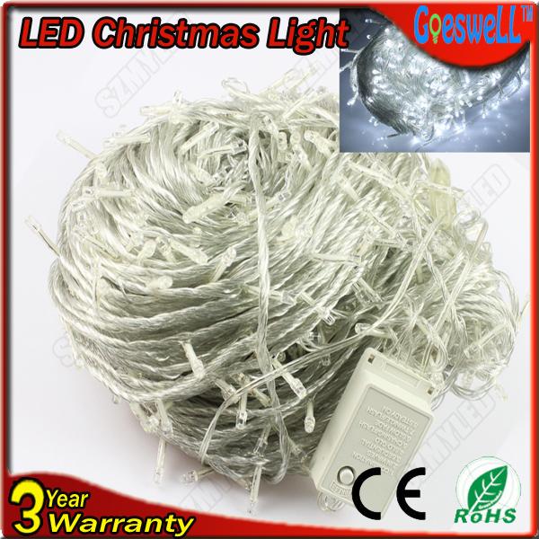LED Christmas Lights 100M 600Leds AC220V 7colors RGB white Led String light For Christmas Tree light(China (Mainland))