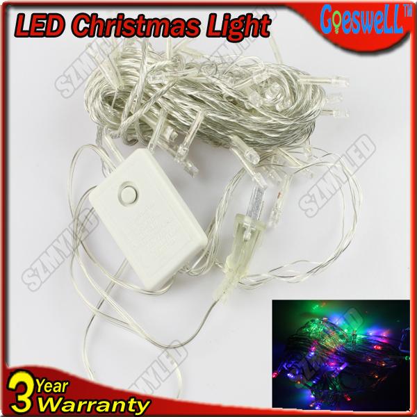 2014 NEW HOT!!! LED Christmas Tree Light 8M 52leds Led String Lights AC220-240V Cool White /RGB Colorful Wedding Lights(China (Mainland))
