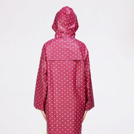 Eva водонепроницаемый плащ женщины Dot длинная дамы плащ по колено с капюшоном и упаковка сумка вкладыш пончо пальто дождевики