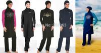Hot Sale!! Wholesale solid color swimwear for muslim women, women muslim swimwear, islamic wear, 2sets/lot