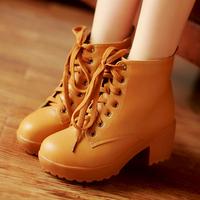 Autumn Women Boots Artificial High Heels Big Size 34-43 New Winter Platform Leather Ankle Suede Boots Shoes Woman DGXZ5003