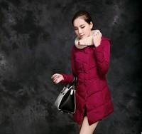 Girls winter coat women down cotton long paragraph Slim Korean version of casual thick padded jacket   NDZ103   Y9W