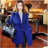 Korean winter long section of a large code wool coat cashmere coat children NDZ105 Y9W