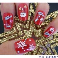 6pcs/set Mix Colors Snow Snowflake Beauty 3D Nail Stickers On nails Tools nail art stickers Decoration Adesivo Para Unhas 19344