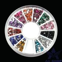 2000Pcs 12Colors 2MM Nail Art Decorations Bead For UV Gel Acrylic Rhinestones For Nails Decorated Nail Tips 3D Nail Charms 11791
